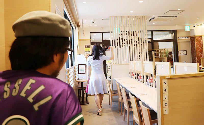 松乃家北小金店で先に帰る鶴あいかと、その背中を見つめる地主恵亮