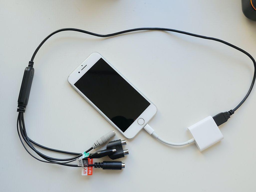 Lightning-USB 3カメラアダプターとiPhone 4