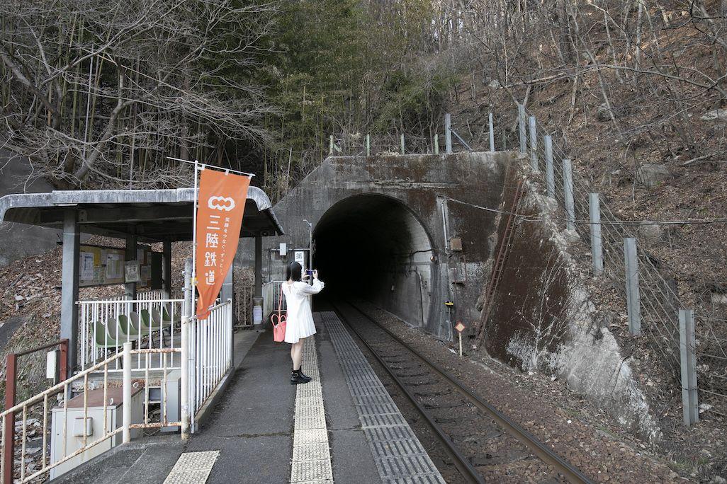 白井海岸駅の外観