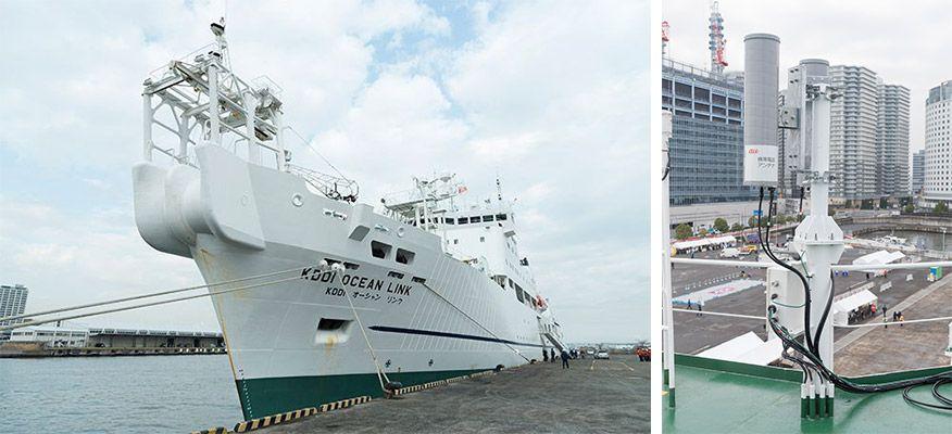 海底ケーブル敷設船「KDDIオーシャンリンク」を活用した船舶型基地局