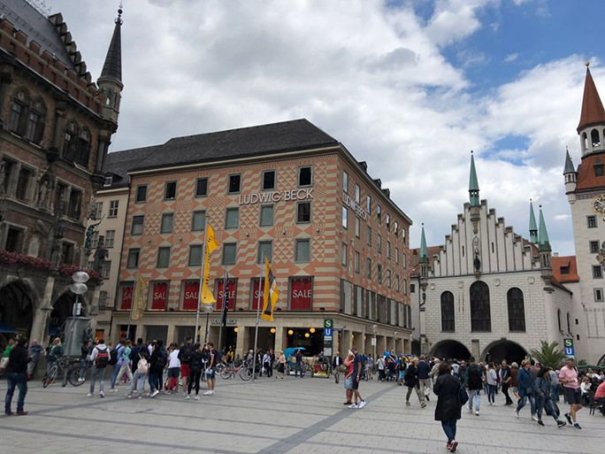 ドイツの街の風景