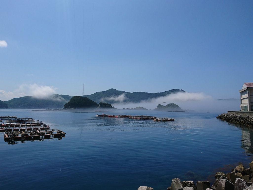 嘉島の沿岸の様子