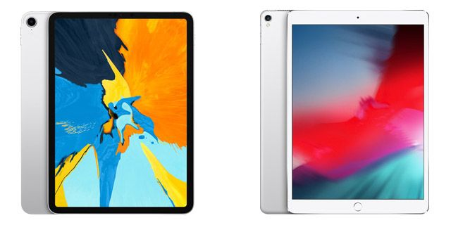 新しい11インチのiPad Proと前モデルの10.5インチのiPad Proの比較写真