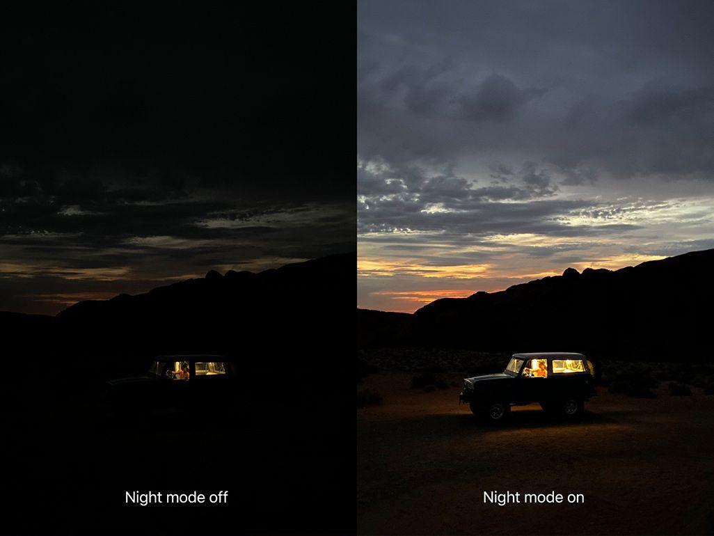 iPhone 11シリーズでのナイトモード撮影