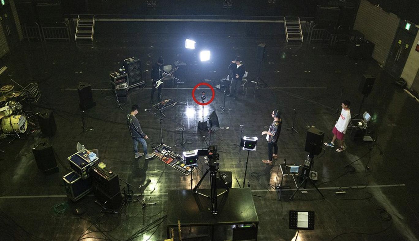 360度カメラとマイクによる音のVRの撮影風景