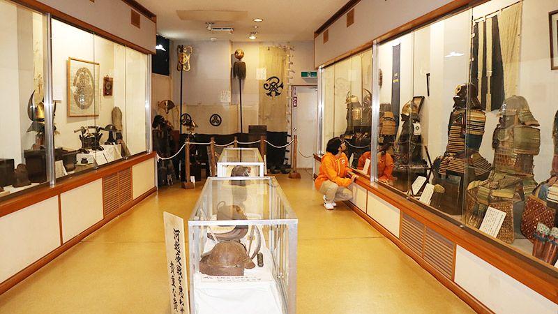 川越歴史博物館に展示されている数々の甲冑