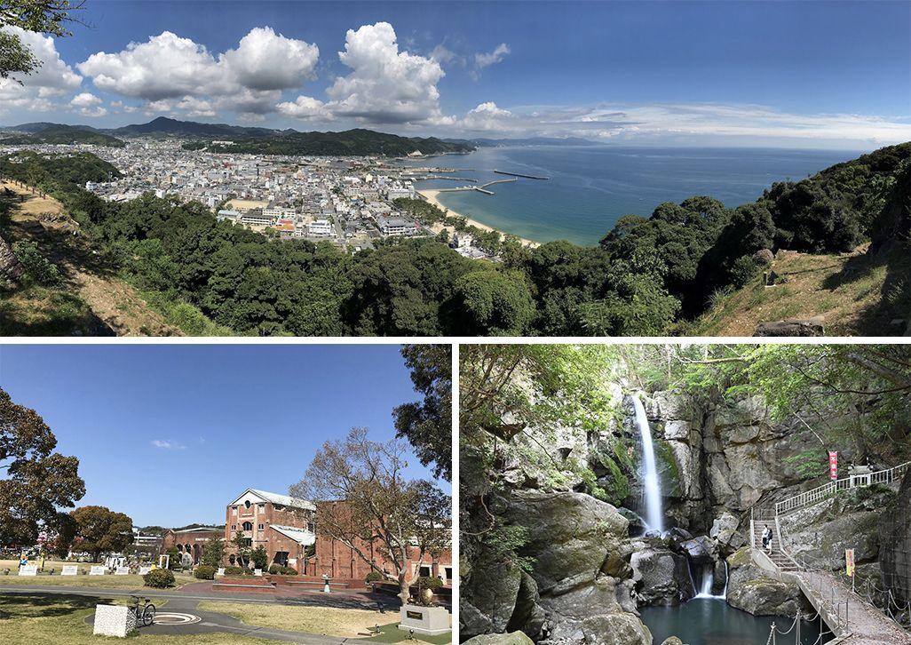 海と山の自然に恵まれた淡路島・洲本市の風景
