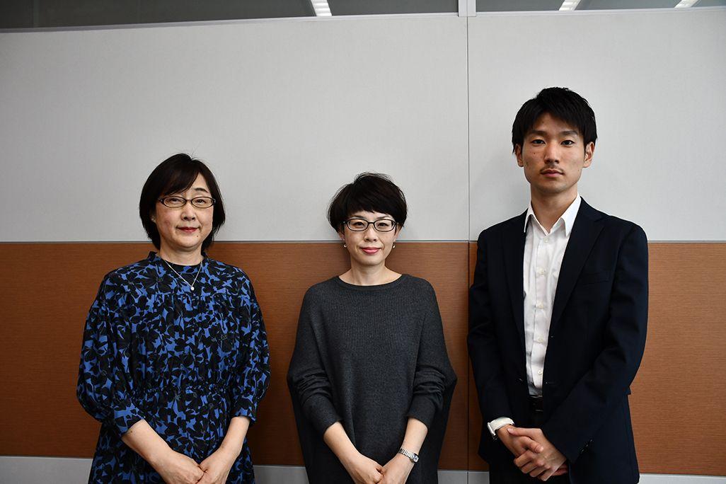 左からKDDI サステナビリティ推進室の海崎千恵子、日野有子、澤谷賢太