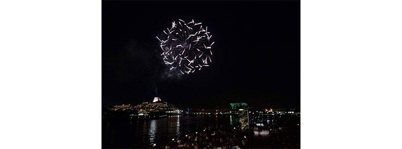 Galaxyで撮影した横浜の花火