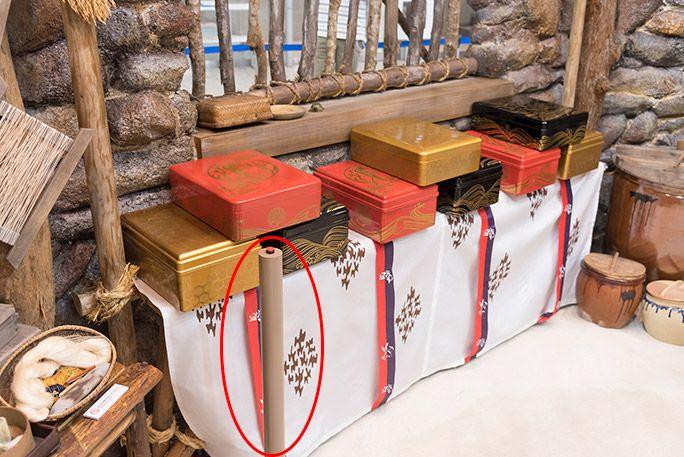 お台場・浦ちゃんの家の室内に飾られた玉手箱