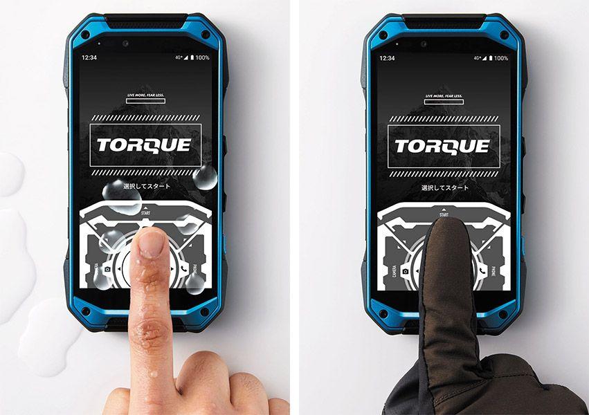 TORQUE G04のウェットタッチとグローブタッチ