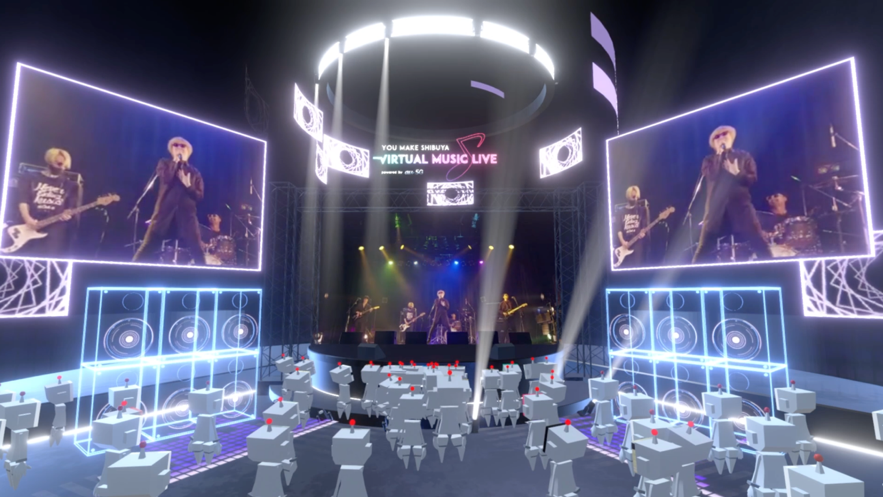 バーチャル渋谷内のバーチャルライブハウスのイメージ画像