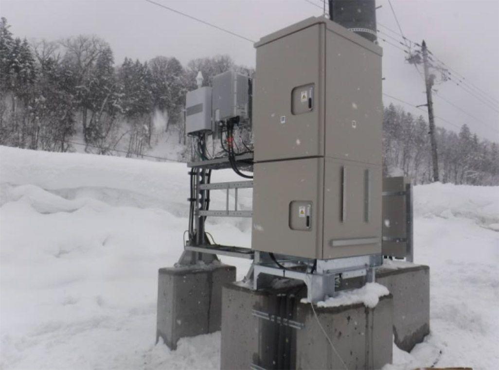 北海道 雪のなかの基地局