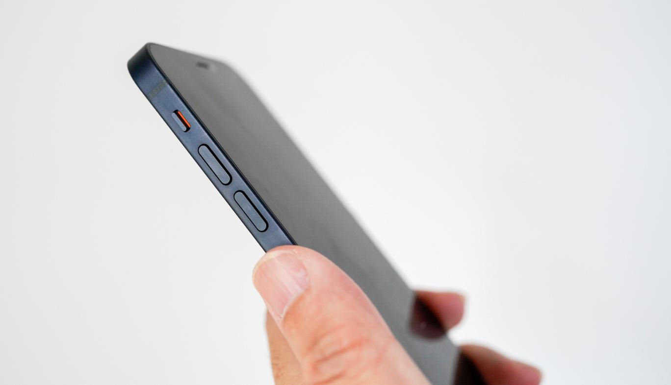 iPhoneのボリュームボタンとマナーボタン