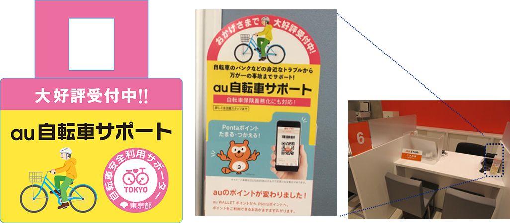auの東京都自転車安全利用サポーターの活動