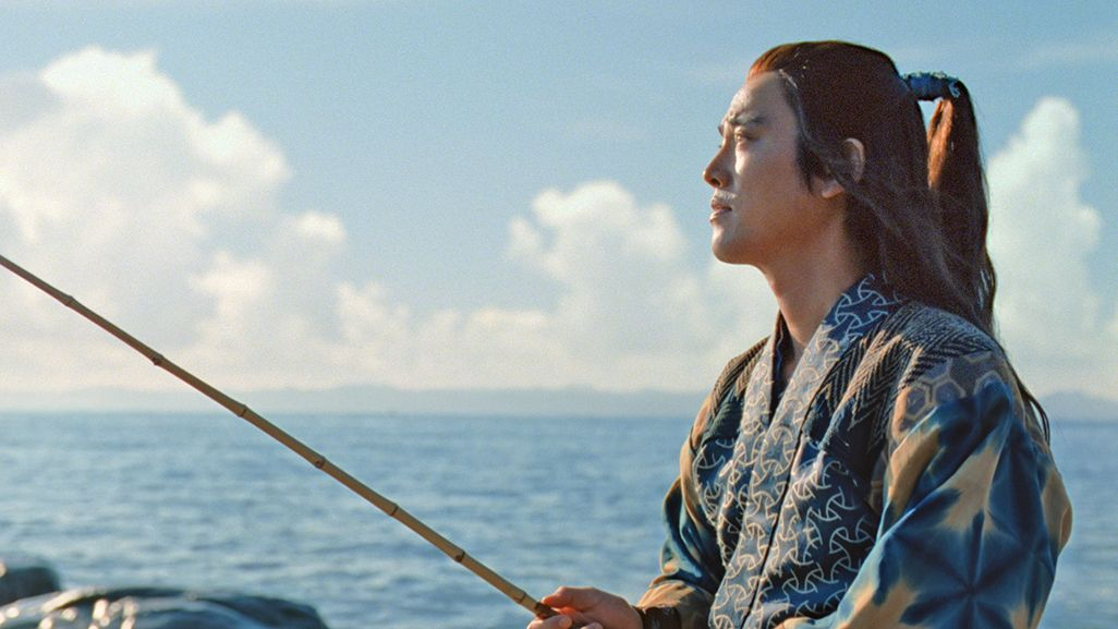 三太郎CMで釣りをする浦島太郎