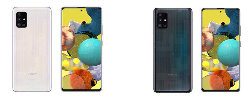 Galaxy A51 5Gのカラーバリエーション