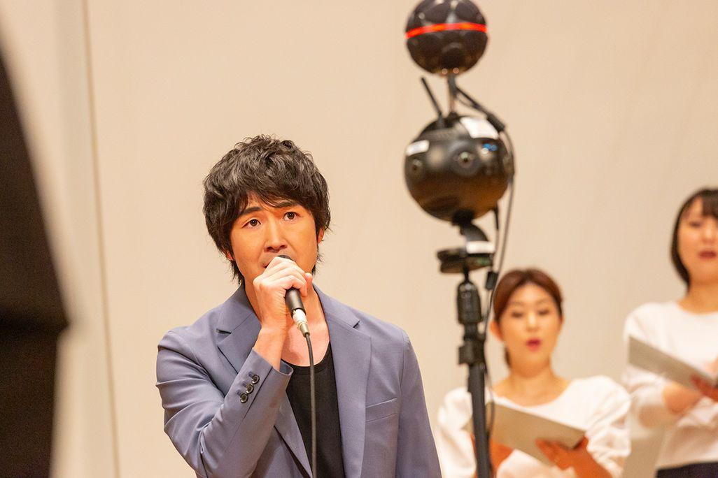 藤巻亮太さんと東京混声合唱団による音のVR収録風景