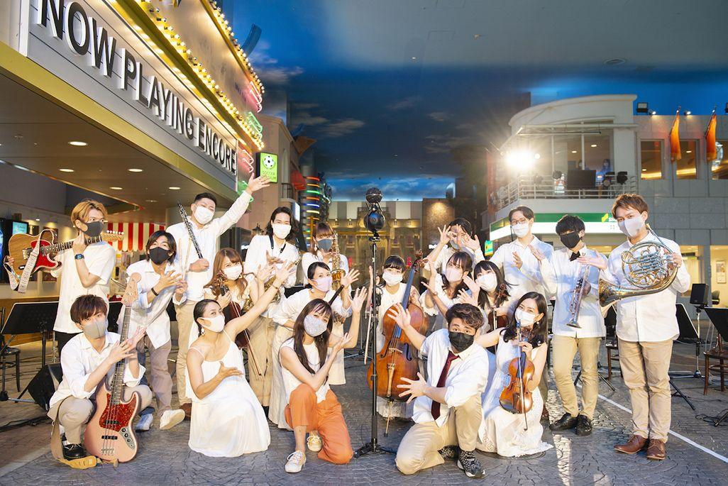 プレミアムズコンサートのメンバーと音のVR機材で記念写真