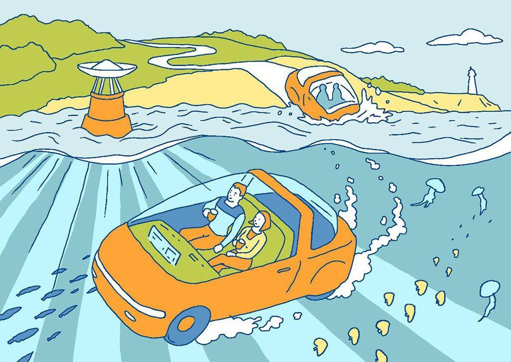 陸上でも海中でもシームレスに自動運転