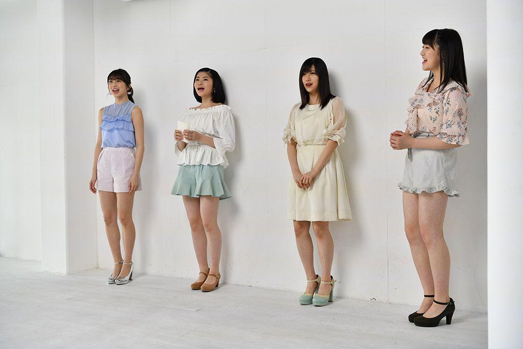 「音のVR」リハーサルで歌うモーニング娘。'18・牧野真莉愛、加賀楓、佐藤優樹、羽賀朱音