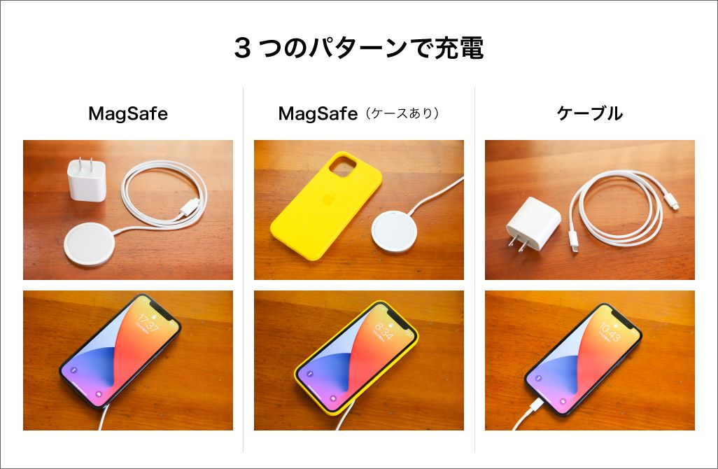 iPhoneの充電実験
