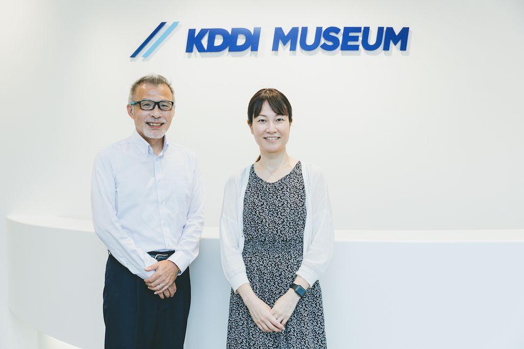 KDDI広報部 メディア開発グループの東 達朗と森井 彩