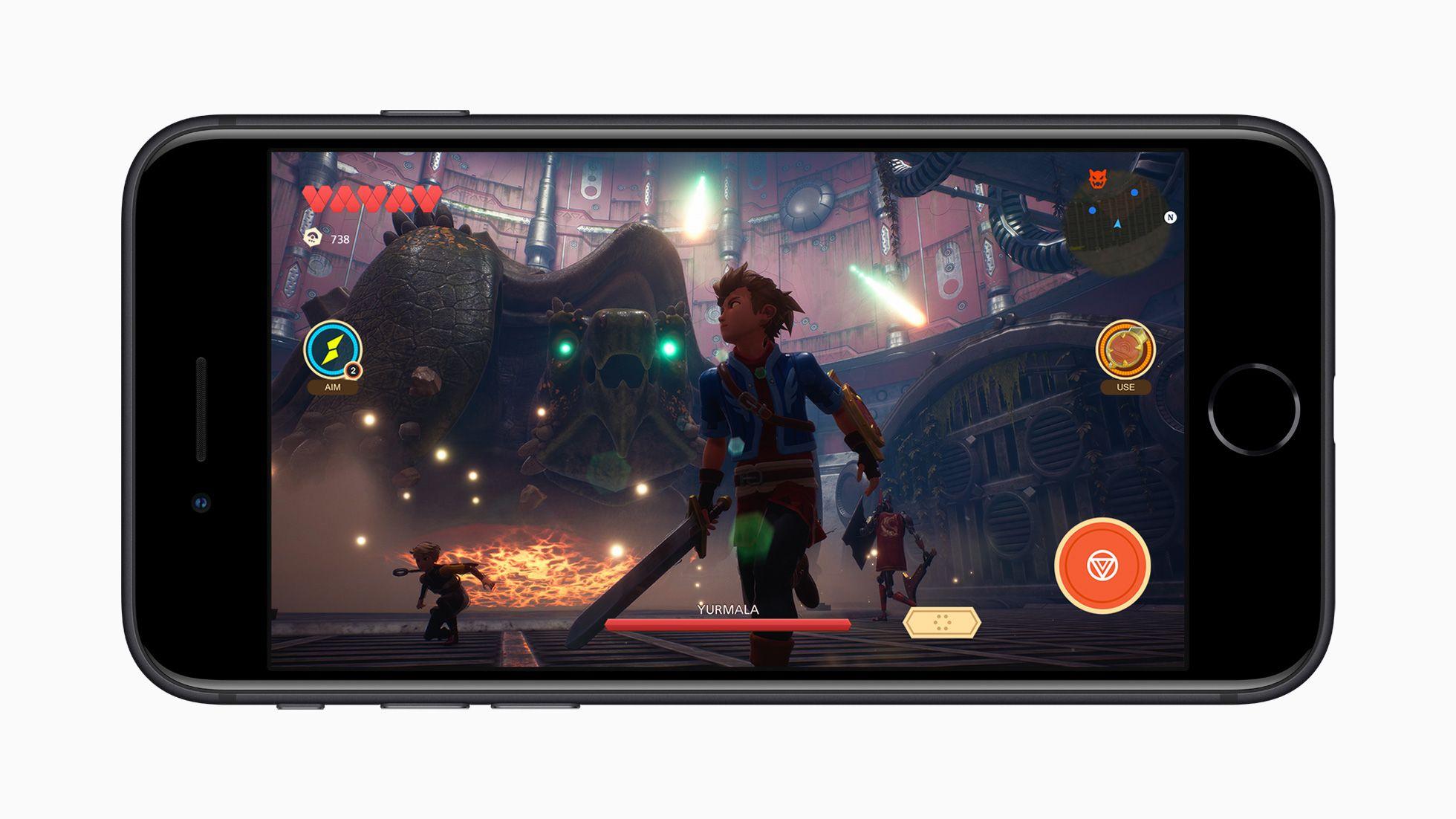 iPhone SE(第2世代)のゲーム画面
