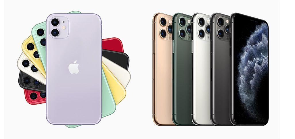 iPhone 11とiPhone 11 Proのカラーバリエーション