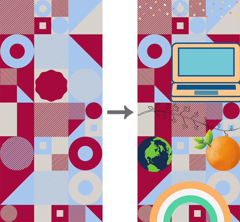 イラストを乗せてカスタマイズしたINFOBAR壁紙