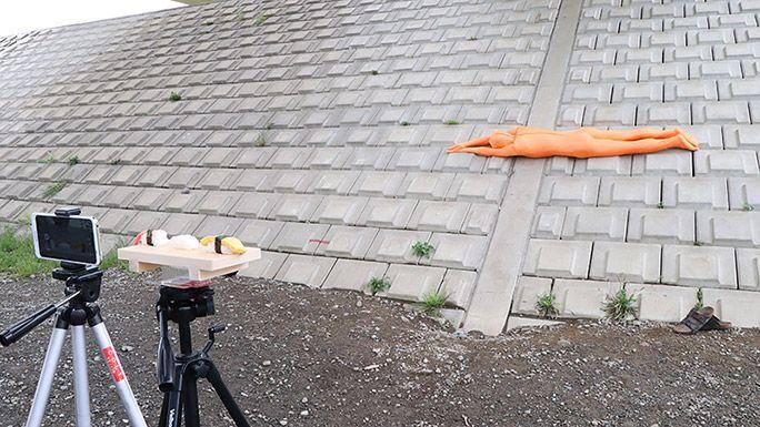 お寿司のネタになるをするトリック動画の撮影方法