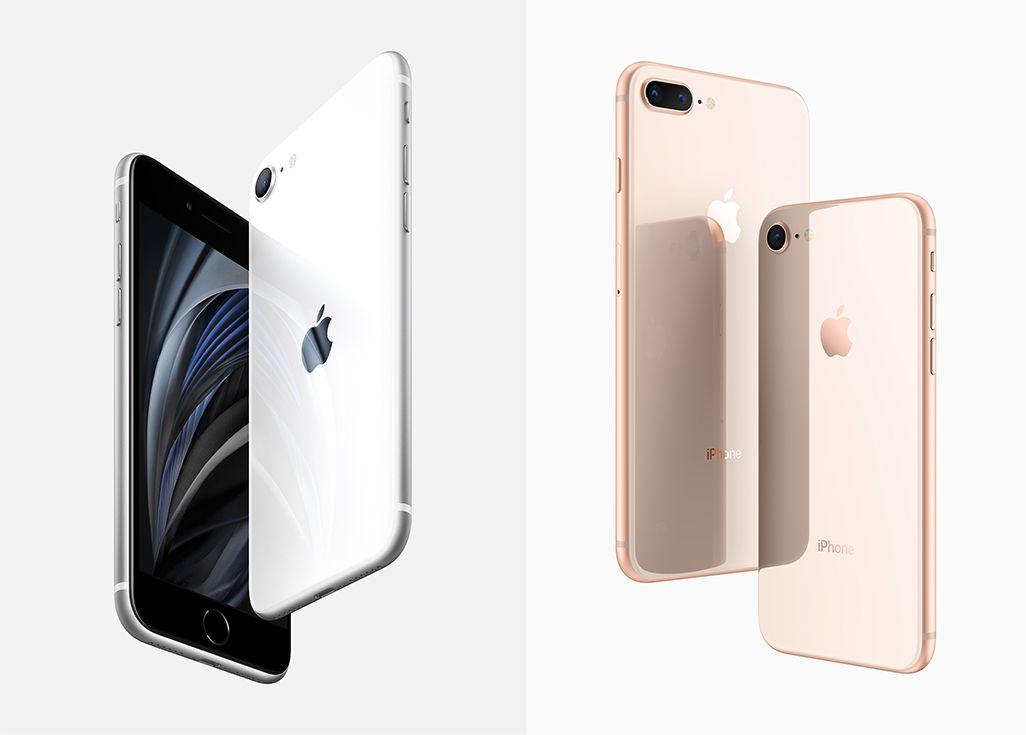 左/iPhone SE(第2世代) 右/iPhone 8