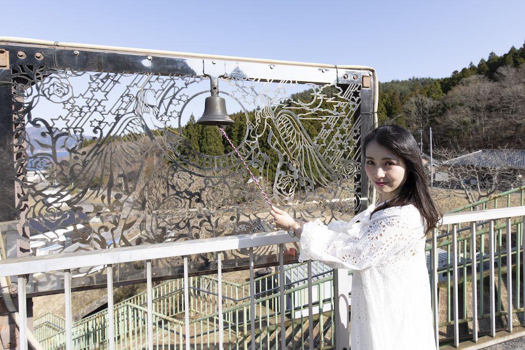 恋し浜駅の幸せの鐘