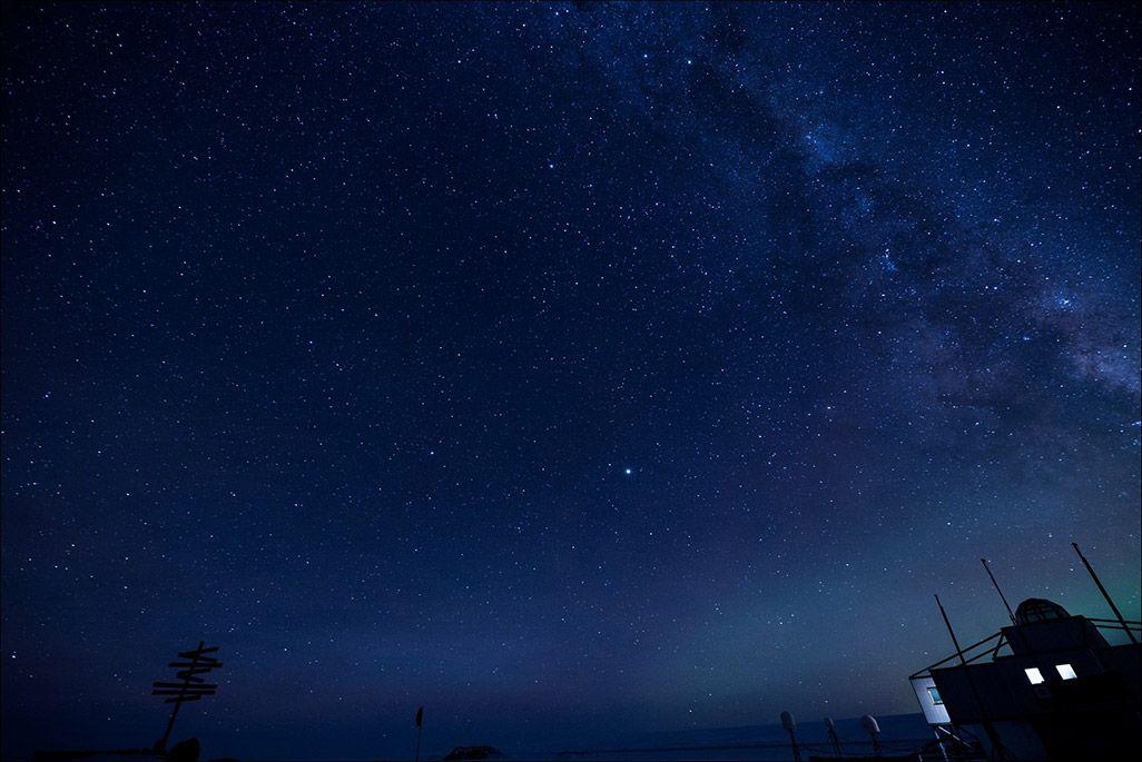 南極昭和基地周辺で観測された天の川銀河