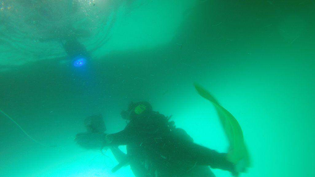 陸上側と水中の光のやり取りの様子