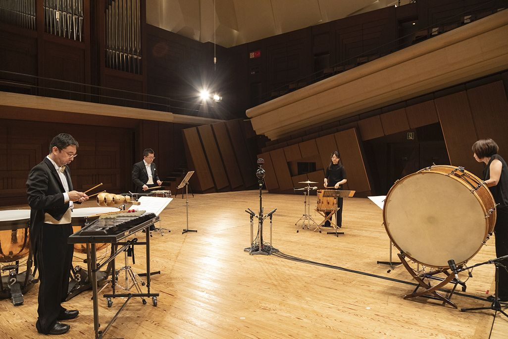 新日本フィルの打楽器アンサンブル