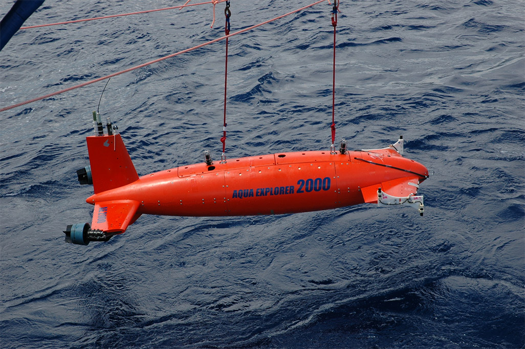 AUV(自律航行型海中ロボット)「AE2000」