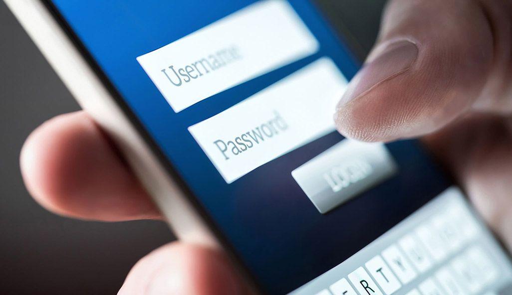 スマホ アカウント名とパスワード