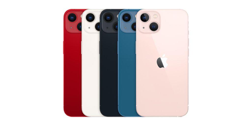 iPhone 13 / 13 miniのカラーバリエーション