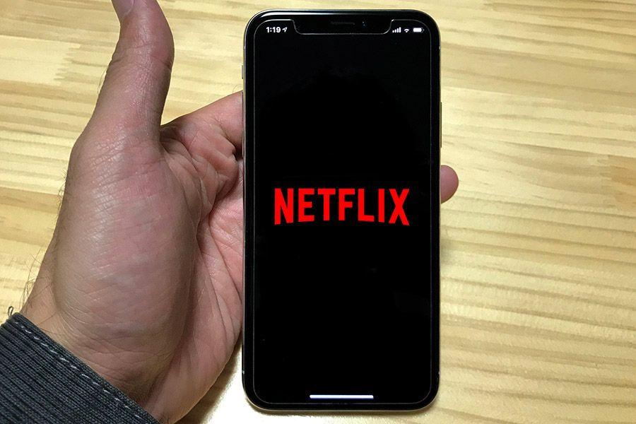Netflixアプリを起動させたiPhone X