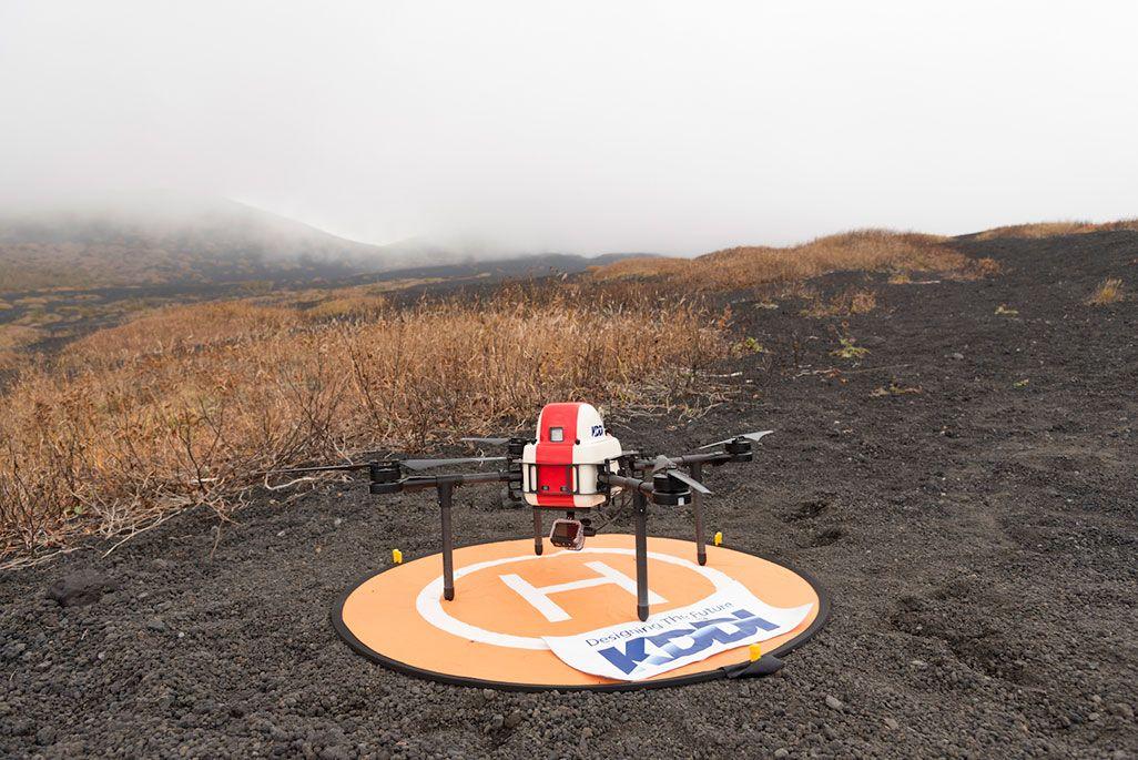 山岳救助専用にKDDIが開発したスマートドローン「PD4-AW-AQ」