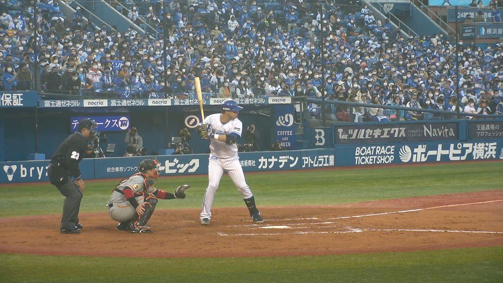「ベイプラ」の打者1塁側カメラ