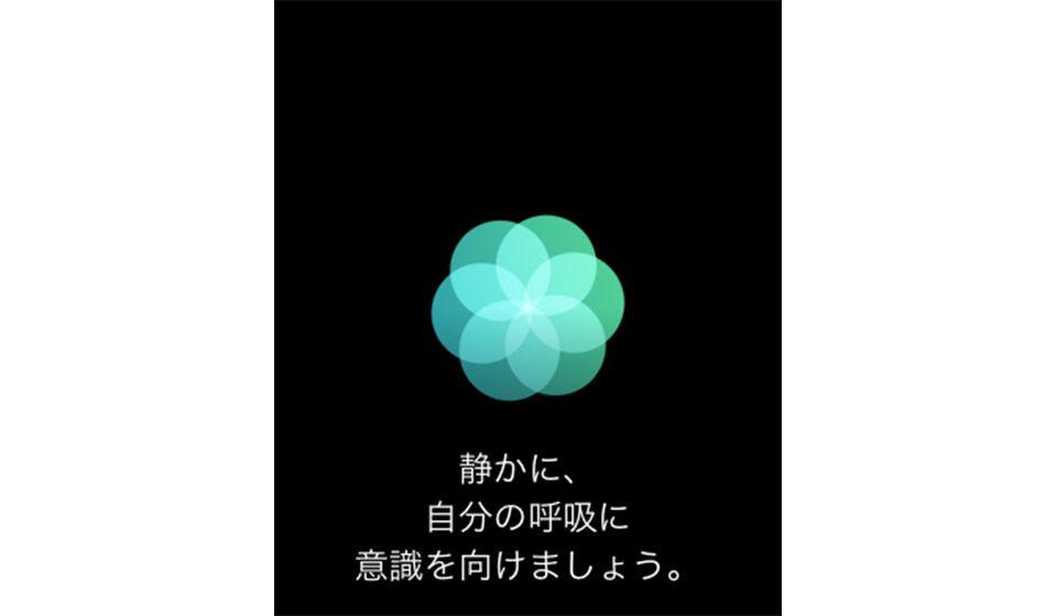 Apple Watchの「マインドフルネス」の表示例