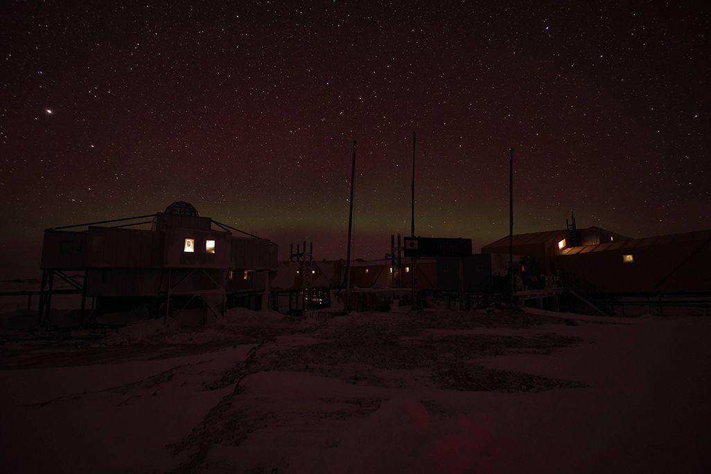 南極のオーロラ