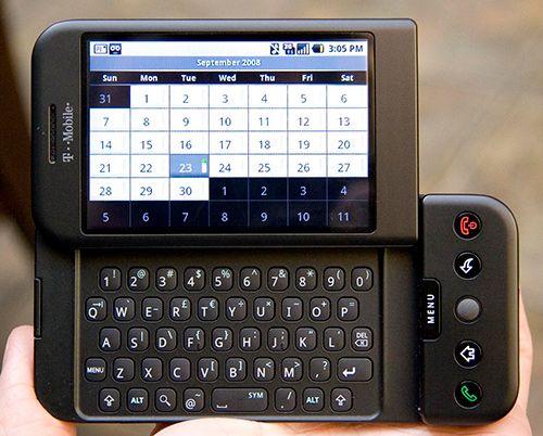 アメリカのT−Mobile社が発表したT-Mobile G1