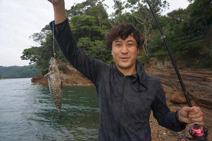 魚を釣ったヨッピー