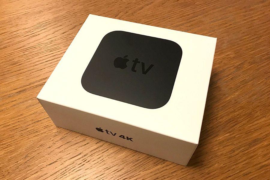 箱に入った状態のApple「Apple TV」