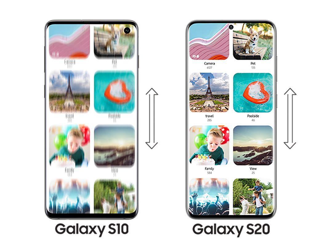 Galaxy S20 5G / Galaxy S20+ 5Gのリフレッシュレート