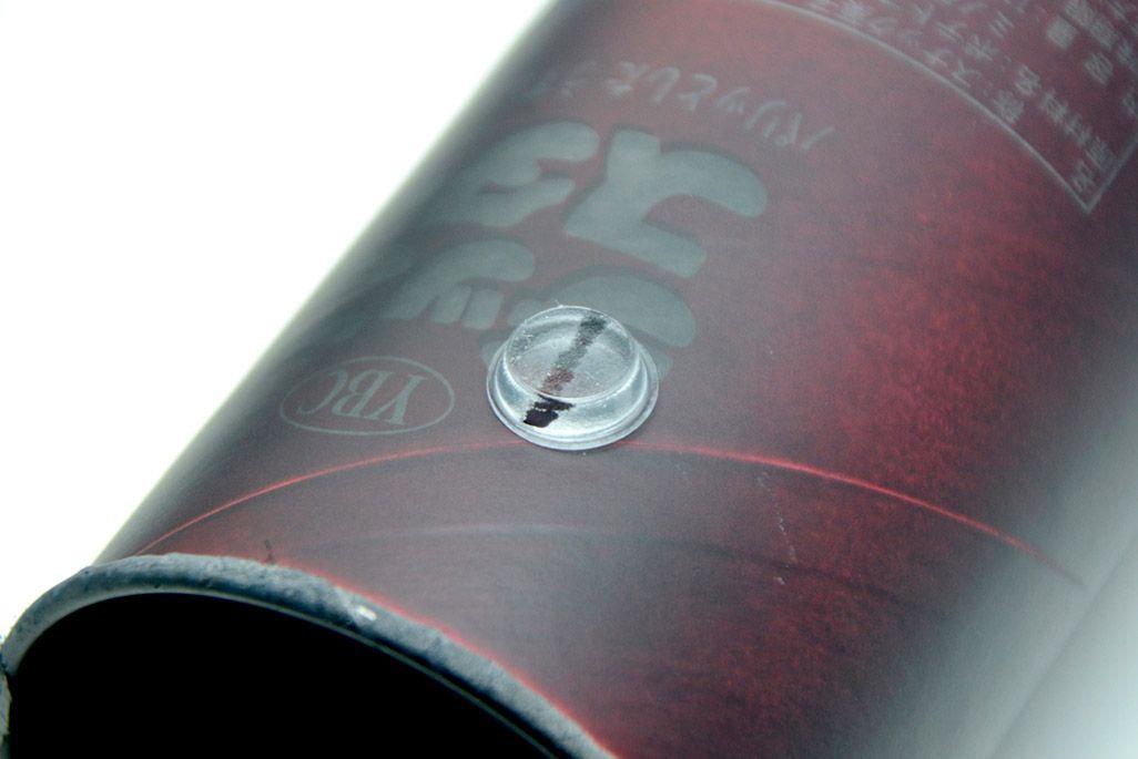 ヤマザキビスケット「チップスター(パリッとしたうすしお味)」にクッションゴムを貼りつける