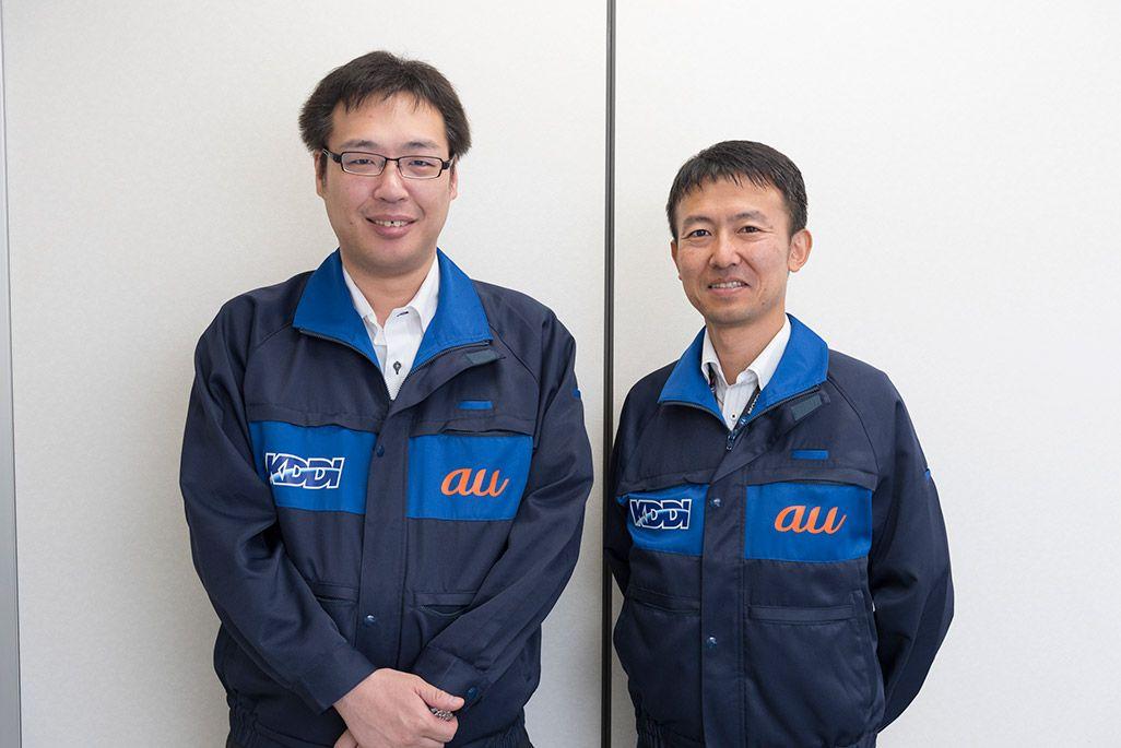 KDDI 技術統括本部 札幌テクニカルセンター 鎌田貴志と脇 孝拓